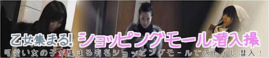 盗撮AV:乙女集まる!ショッピングモール潜入撮:マンコ