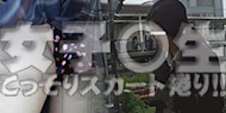 盗撮AV:女子〇生こっそりスカート捲り!!:無毛まんこ