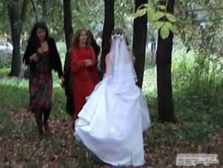 盗撮AV:衝撃!ウエデイングドレスを着て野外発射! :のぞき本舗 中村屋